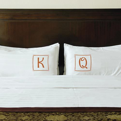 Personalized Stenciled Pillow