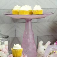 Pink Frosted Rose Cake Stand