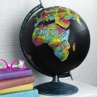 Upcycled Colorful Globe