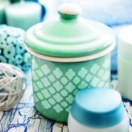 Quatrefoil Canister with Lid