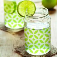 Easy Stenciled Drinking Jar