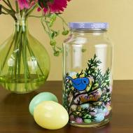 Purple Upcycled Easter Candy Jar