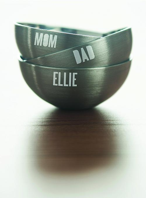 Stenciled Family Personalized Bowls
