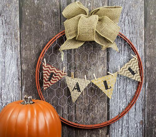 Fall Upcycle Country Wreath