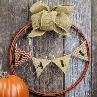 Fall Upcycle Wreath