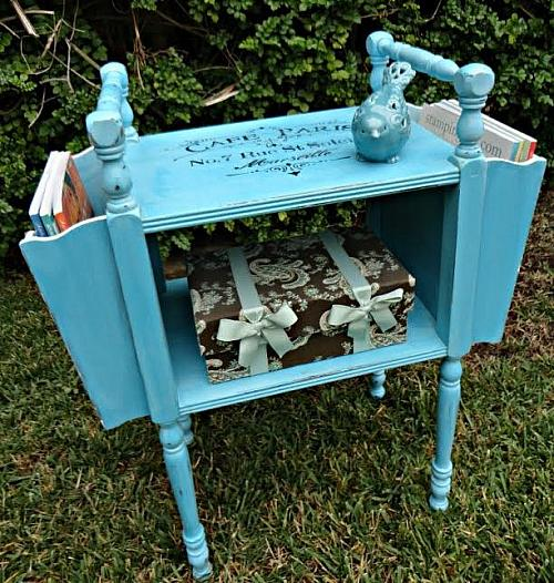 Vintage Magazine Side Table Transformation