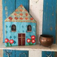 Mixed Media Wooden House