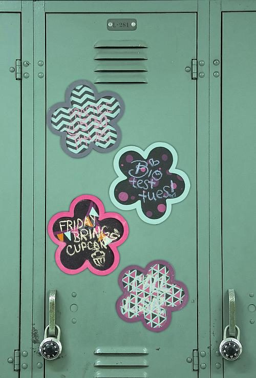 Four Flower-Shaped Magnetic Chalkboards