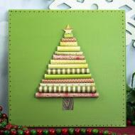 Festive Paper Christmas Tree Canvas