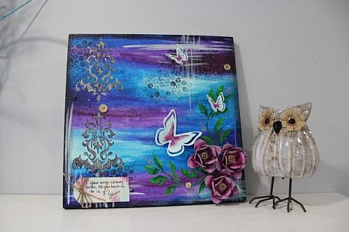 Butterfly Mixed Media Canvas Project By Decoart
