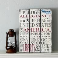 Pledge of Allegiance Sign