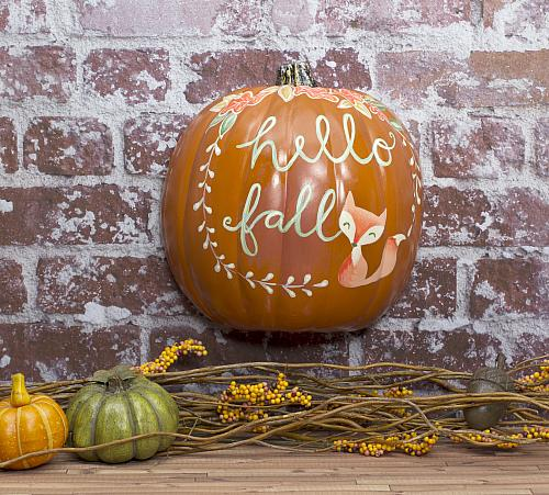 Whimsical Quot Hello Fall Quot Pumpkin Wall D 233 Cor Project By Decoart