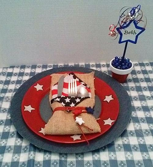 Red, White, and Blue Patriotic Place Setting