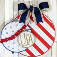 Patriotic Door Décor