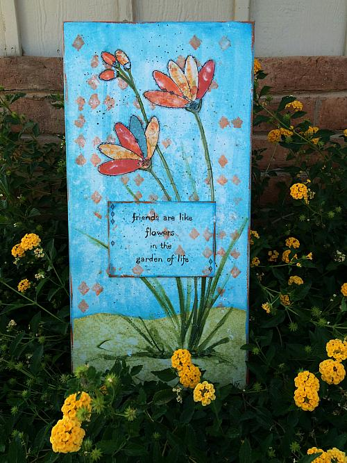 Friends Are Like Flowers Mixed Media Canvas Project By