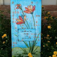 Friends are Like Flowers Canvas
