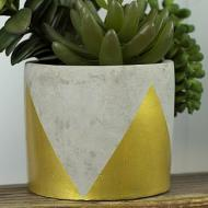 Metallic Geometric Succulent Pot