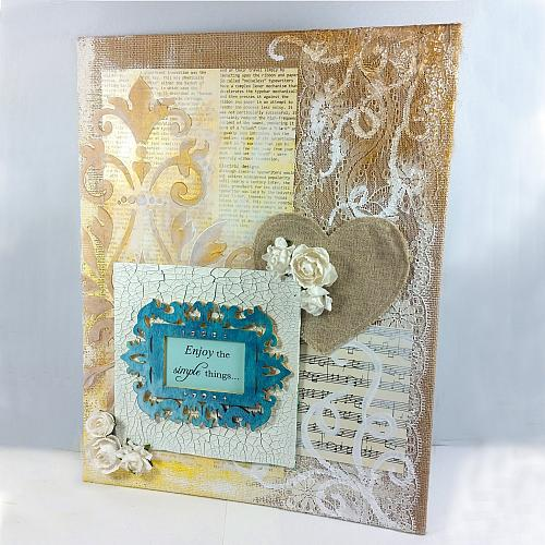 Enjoy The Simple Things Mixed Media Canvas Project By Decoart