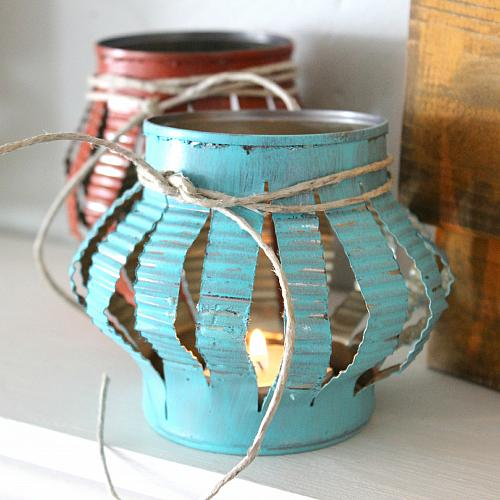 Rustic Tin Can Tea Lights