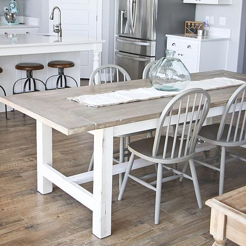 DIY Weathered Farmhouse Table