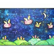 """""""When"""" Pigs Fly Mixed Media"""