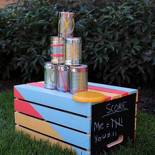 Tin Can Toss Backyard Game Project By Decoart
