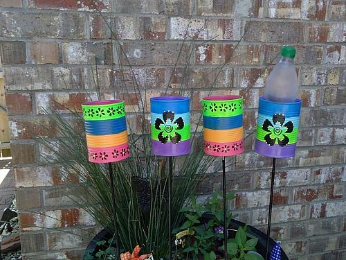 Outdoor Tin Can Beverage Holders Project By Decoart