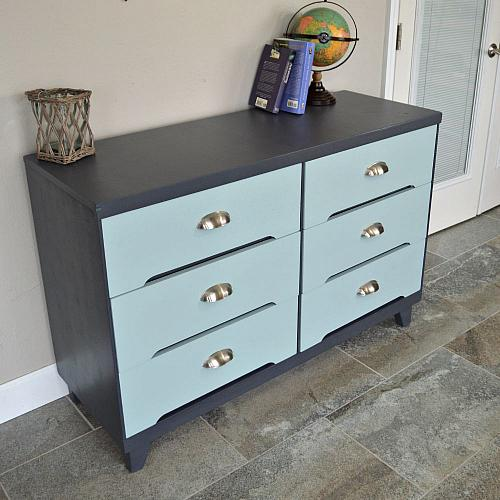 Mid Century Modern Dorm Room Dresser Makeover Project By