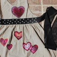 Dangling Hearts Apron