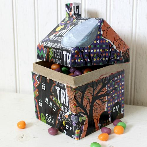 Haunted House Candy Container Project By Decoart