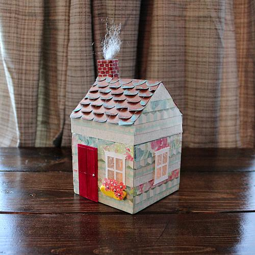 Papier-Mâché Mini Cottage Luminary