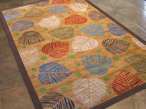 Chalky Tropical Bamboo Rug Project By Decoart