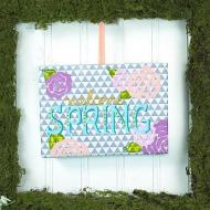 Spring Wreath with Canvas