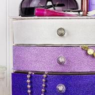 Glittered Jewelry Box