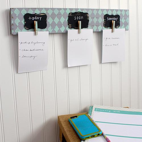Diy Pallet Quot To Do Quot List Organizer Project By Decoart