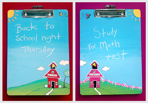 Back to School Clipboards