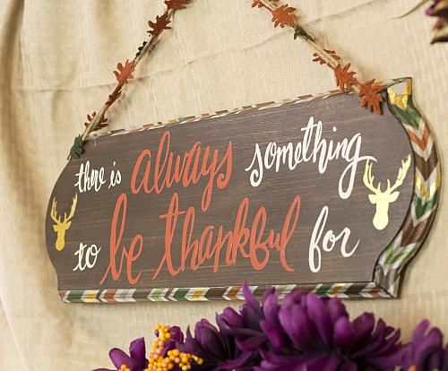 thanksgiving gold stag door sign
