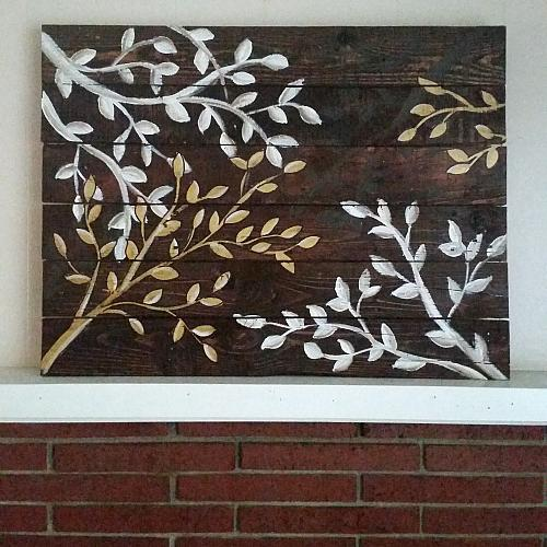 Upscale tree branch reclaimed wood wall art project by for Wall art projects