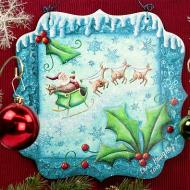 Guide My Sleigh Plaque
