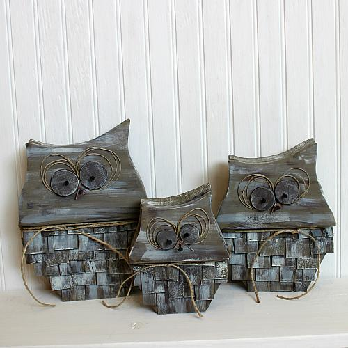 Rustic Owl Home Decor TrioProject by DecoArt