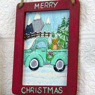 Vintage Truck Christmas Hanging