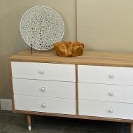 Faux Wood Textured Dresser