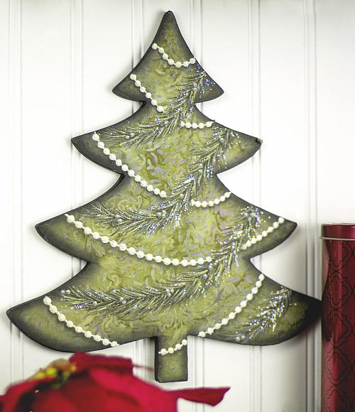Beaded Painted Christmas Tree Project By Decoart