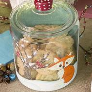 Winter Fox Cookie Jar
