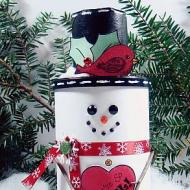 Snowman Cookie Container