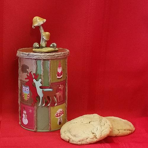 Cookie Container with Mushroom Topper