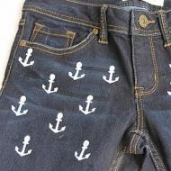 Anchored Stenciled Pants