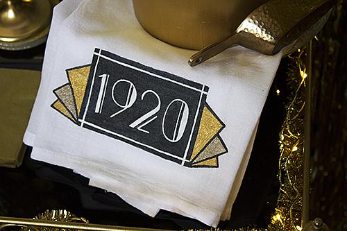 Roaring 20s Art Deco Style Bar Towel Project By Decoart