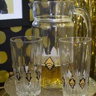 Roaring 20s Pitcher and Glass Set
