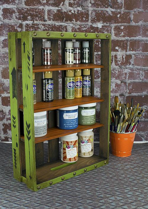 Wall Or Standing Storage Crate For Paint Project By Decoart